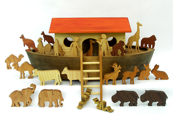wooden Noah's Ark for children